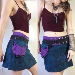 Gypsy Snaps & Pocket Fanny Belt Skirt